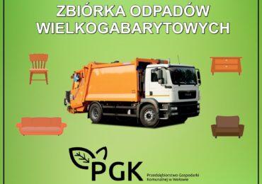 Zbiórka odpadów wielkogabarytowych – tereny wiejskie Gminy Wołów